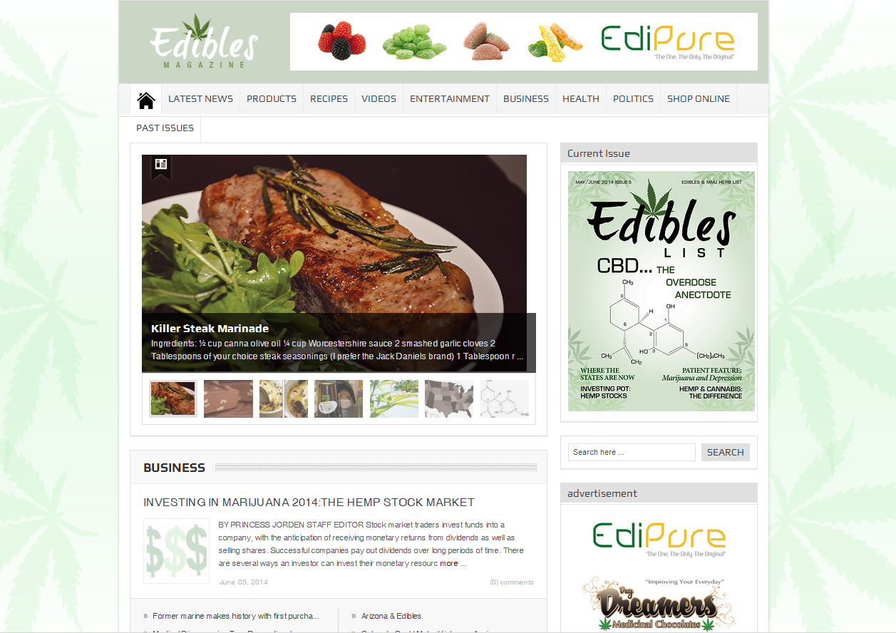 Check out the New EdiblesMagazine.com site