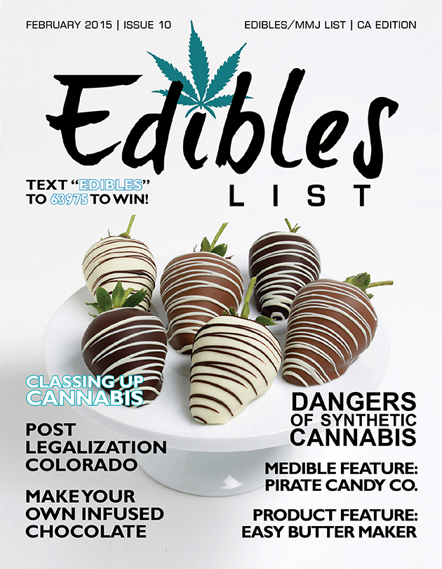 EdiblesList.com is the #1 source for finding infused medical marijuana and recreational edibles, topicals, tinctures and vaporizers. If you are seeking reliable cannabis industry news, look no further than Edibles Magazine. Edibles Magazine focuses on the news, the patients, the laws and the facts, presented in a medical journal style format. Our free monthly print and online magazine is distributed to dispensaries and doctors offices in California, Colorado, Oregon and Washington. We have subscribers across the nation and are consistently expanding each year. We host the annual Best of Edibles List Awards for Edibles, Topicals and Concentrates. We have subscribers across the nation and are consistently expanding each year.